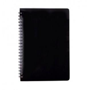 Купить Блокнот  А5 80л # пласт. обложка, боковая спираль, черный GLOSS, BM.24552151-01 по низким ценам