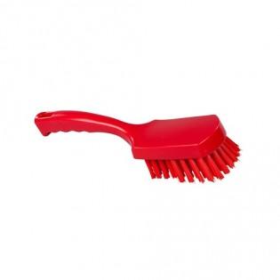 Купить Щетка с ручкой, полиэстер, 275*70, высота ворса 35мм, цвет красный, FBK ХАССП по низким ценам