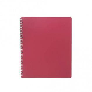 Купить Блокнот   В5 80л # пласт. обложка, боковая спираль, красный CLASSIC BM.2419-005 по низким ценам