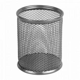 Купить Подставка-стакан для ручек, метал, круглая серебряная Ах2110-03-A по низким ценам