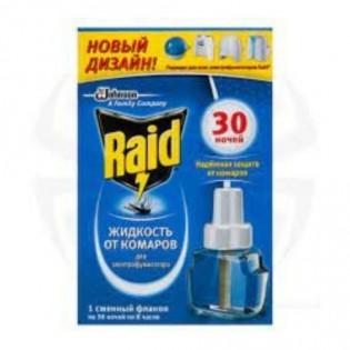 Купить Жидкость для электрофумигаторов от комаров (22мл) 30 ночей Raid по низким ценам