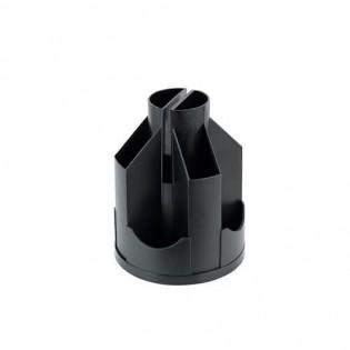 Купить Подставка канцелярская (103х135) пластик, вертушка (11отд), пустая, черная D3003-01 по низким ценам