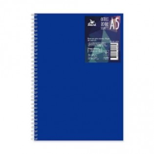 Купить Блокнот  А5 80л # пласт. обложка, боковая спираль БН-010-МВ по низким ценам