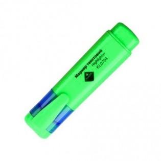 Купить Маркер текст. клиновидный (2-4мм) зеленый  KL0704/0732 по низким ценам