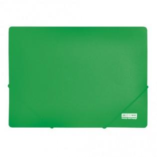 Купить Папка пласт. А4 2 резинки зеленая BM.3911-04 по низким ценам