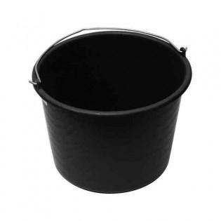 Купить Ведро хозяйственное (10л) пластик. круглое, без крышки с пласт. ручкой, черное (С) по низким ценам