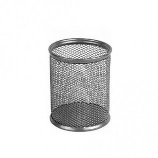 Купить Подставка-стакан для ручек, метал, круглая серебряная BM.6202-24  по низким ценам