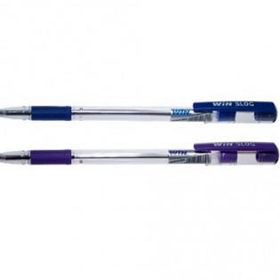 Купить Ручка масляная (0,7) синяя с гриппом прозрачная SLOG 15001021 по низким ценам