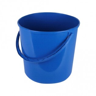 Купить Ведро пищевое  (8л) пластик. круглое, без крышки с пласт. ручкой MIX/122008 по низким ценам