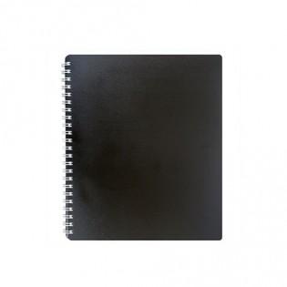 Купить Блокнот   В5 80л # пласт. обложка, боковая спираль, черный CLASSIC BM.2419-001 по низким ценам