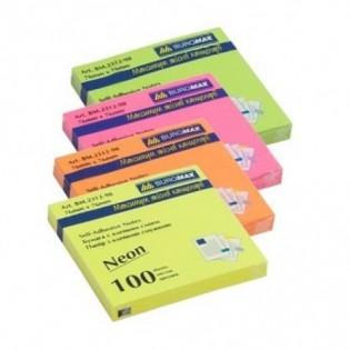 Купить Бумага для заметок клейкая 76х76х100л NEON MIX BM.2312-98 по низким ценам