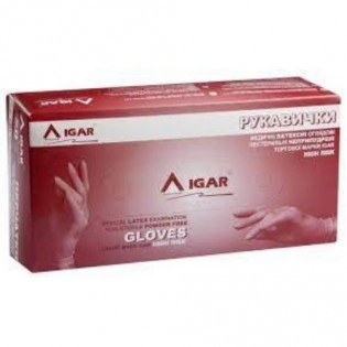 Купить Рукавички латексные, L (8-9) пара,IGAR High Risk (без НДС) по низким ценам