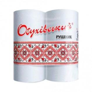 Купить Полотенца бумажные целлюлозные рулон. белые Обухов (2шт) по низким ценам