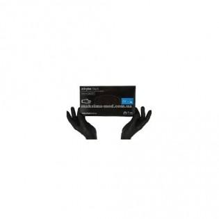Купить Перчатки нитриловые не опудр. L (100 шт) черная Nitrylex (без НДС) по низким ценам