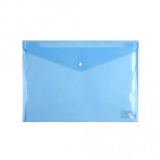 Купить Папка-конверт пласт. А4 на кноп. прозр. синяя 1402-22-A. по низким ценам
