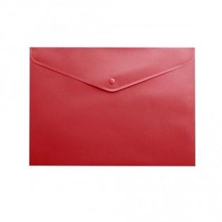 Купить Папка-конверт пласт. А5 на кноп, непрозр, красн, BM.3935-05 по низким ценам
