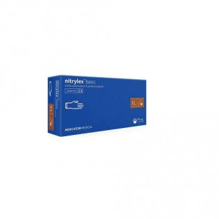 Купить Перчатки нитриловые не опудр. S (100 шт) синяя Nitrylex (без НДС) по низким ценам