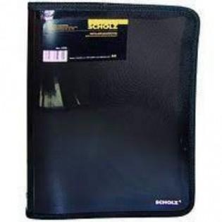 Купить Папка пласт. А4 2 резинки черная 2 отделения SCHOLZ 5212 по низким ценам