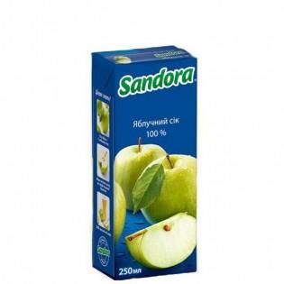 Купить Сок Sandora яблоко, (250мл), тетрапакет по низким ценам