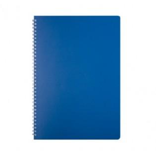 Купить Блокнот  А4 80л # пласт. обложка, боковая спираль, синяя CLASSIC, BM.2446-002 по низким ценам