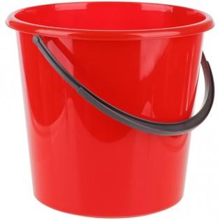 Купить Ведро пищевое (10л) пластик. круглое, без крышки с пласт. ручкой, красное/122010/1 по низким ценам