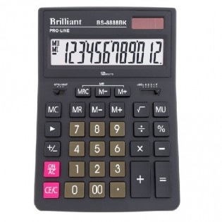Купить Калькулятор 12 разр. бухгалтерский BS-8888BK (155 x205x35)  по низким ценам