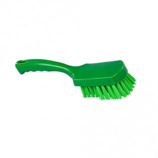 Купить Щетка с ручкой, полиэстер, 275*70, высота ворса 35мм, цвет зеленый, FBK ХАССП по низким ценам