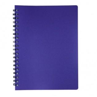 Купить Блокнот  А4 80л # пласт. обложка, боковая спираль, фиолет STATUS, BM.24452153-52 по низким ценам