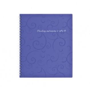Купить Блокнот   В5 80л # пласт. обложка, боковая спираль, фиолетовый BAROCCO BM.2419-607 по низким ценам