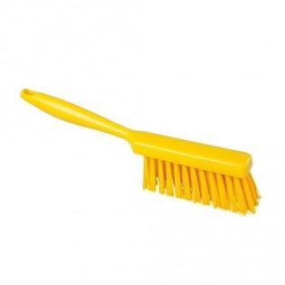 Купить Щетка с длинной ручкой, полиэстер, 340*35, высота ворса 50мм, цвет желтый, FBK ХАССП по низким ценам