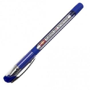Купить Ручка масляная (1,0) синяя (10км ) Top Tek Fusion UX-10 000-02 по низким ценам