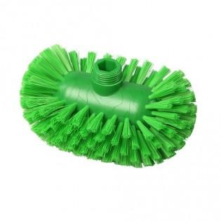Купить Щетка для мытья резервуаров, жесткая, полиэстер, 200*120, цвет зелёный, FBK ХАССП по низким ценам