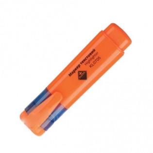 Купить Маркер текст. клиновидный (2-4мм) оранжевый  KL0705/0732/0735 по низким ценам