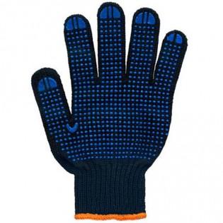 Купить Перчатки трикотажные с ПВХ TWIST черные 7-й класс (6 нитей) 8611 по низким ценам
