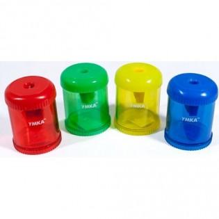 Купить Точилка пластик. с контейнером MIX Умка ТЧ63 по низким ценам