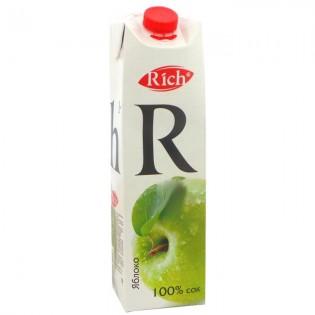 Купить Сок Rich,яблоко(1л) по низким ценам
