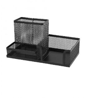 Купить Набор настольный металл. сетка, черный, (3отд) 2116-01-А по низким ценам