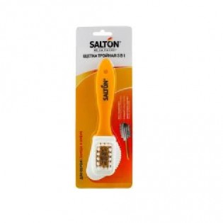 Купить Щетка тройная для замши,ткани и нубука, Salton 3в1 по низким ценам