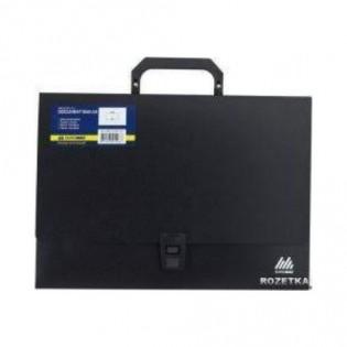 Купить Портфель пласт. А4 3 отделения, черный  1601-01-А по низким ценам