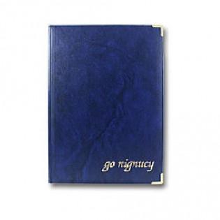 Купить Папка А4 бумвинил, синяя