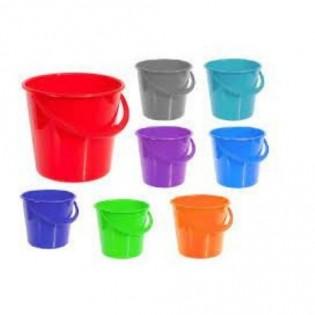 Купить Ведро пищевое (14л) пластик. круглое, без крышки с пласт. ручкой, MIX/122010 по низким ценам