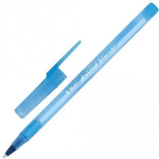 Купить Ручка шариковая (0,5) синяя Round Stic по низким ценам