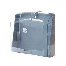 Купить Диспенсер для бумажных полотенец, пластик,  Z, V  сложение, голубой, K.4-T по низким ценам
