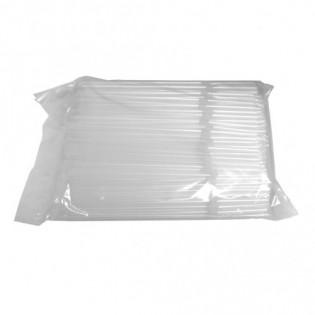 Купить Трубочка для сока, прозрачная с коленом, 210 мм, d=4,8 мм, (1000 шт/уп) по низким ценам