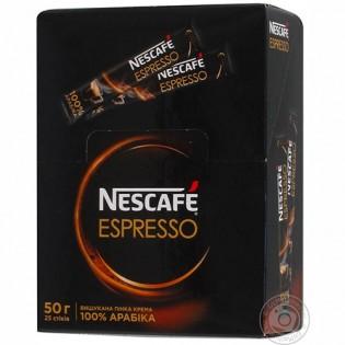 Купить Нескафе Эспрессо в стиках 2г*25шт  по низким ценам