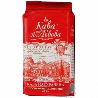 Купить Кофе со Львова Эспрессо натуральный жареный молотый 225г по низким ценам