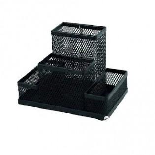 Купить Набор настольный металл. сетка, черный, (4отд) 2117-01-a по низким ценам